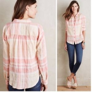 Anthropologie Holding Horses Galien plaid shirt 0